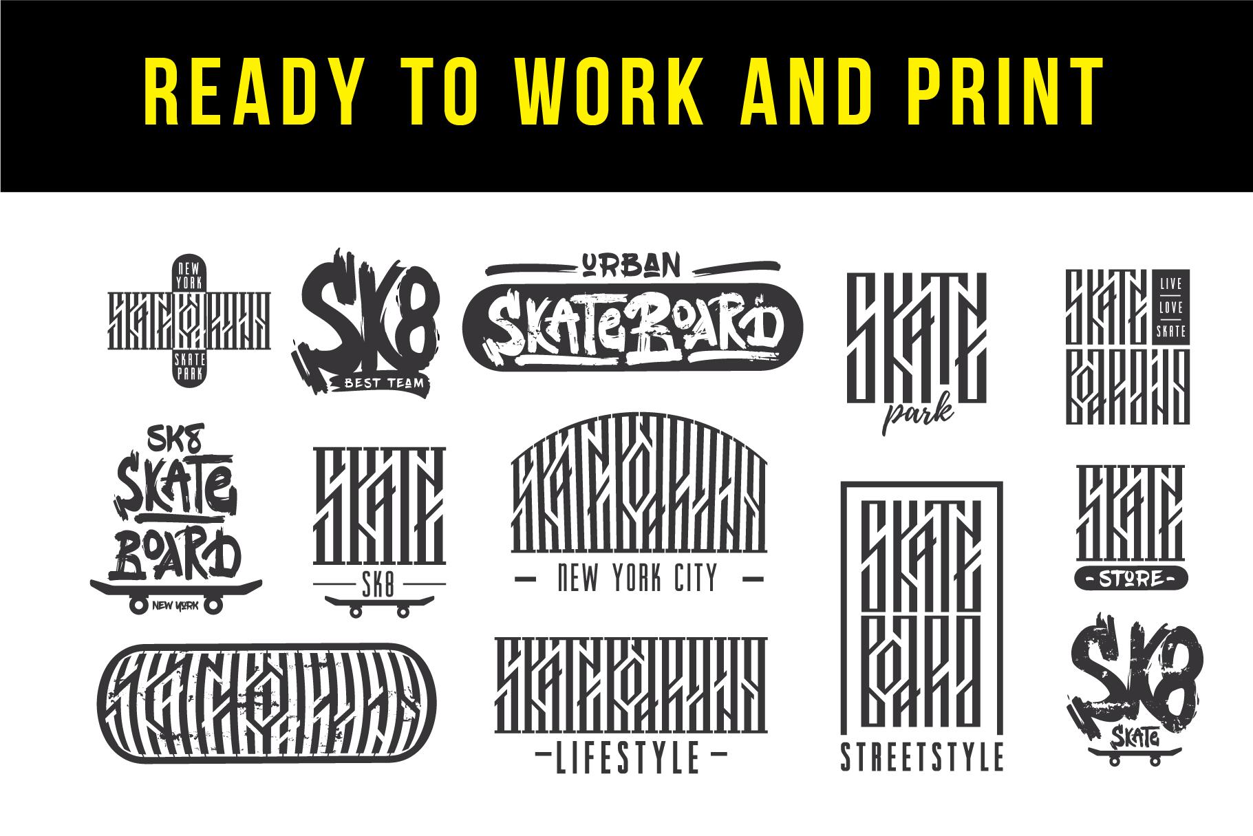 Skateboarding t-shirt design example image 2