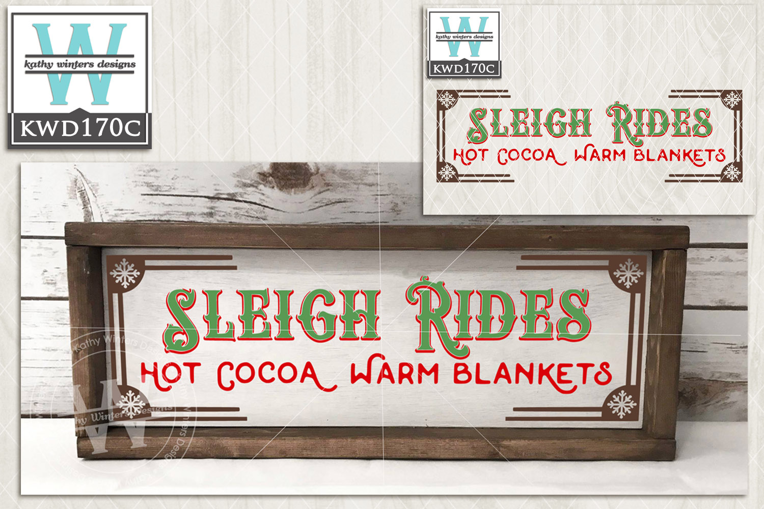 Christmas SVG - Sleigh Rides KWD170C example image 2