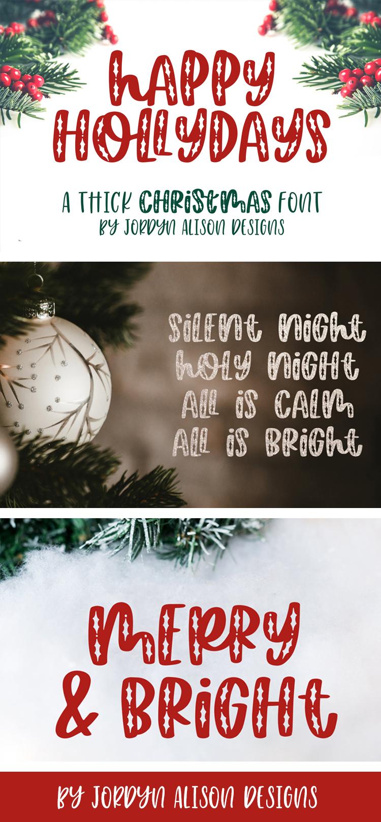 Happy Hollydays, A Christmas Mistletoe Font example image 11