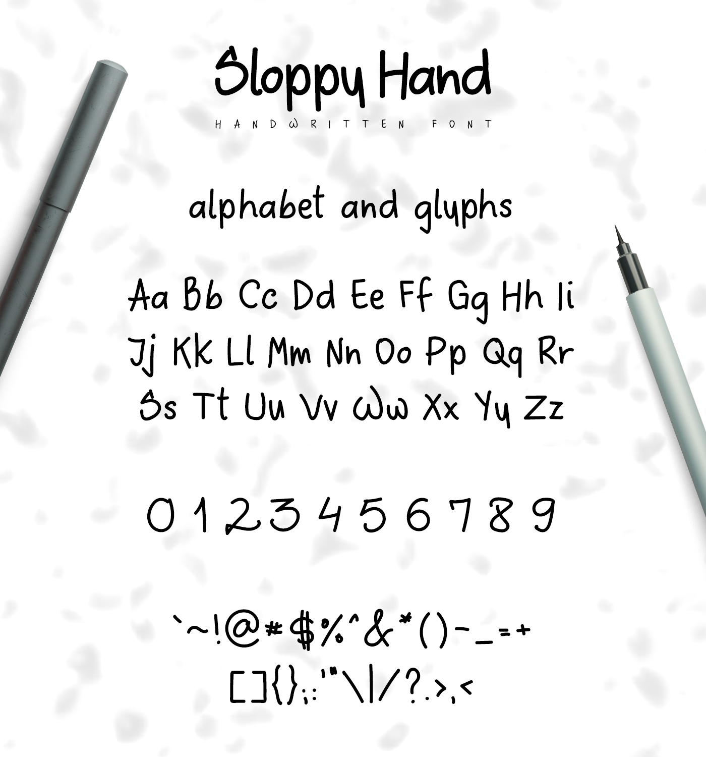 Sloppy Hand - a Handwritten Font example image 2