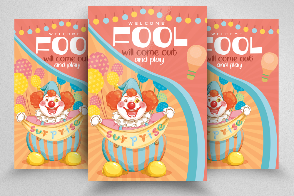 4 April' Fool Party Flyers Bundle example image 2