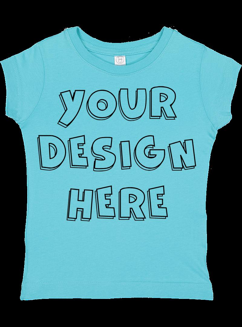 Toddler Gilrs Flat Jersey T Shirt Mockups - 17 example image 4