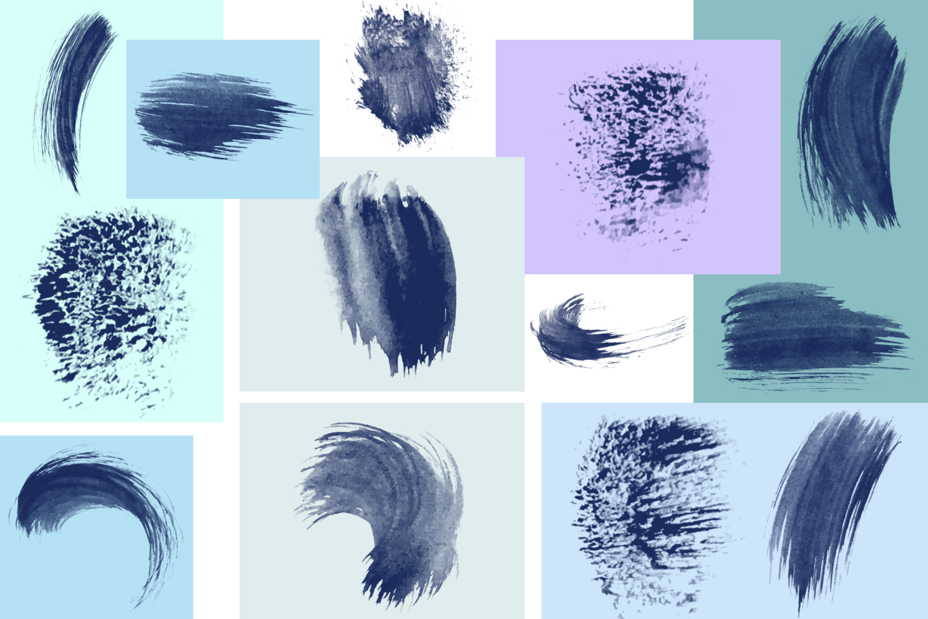 95 Watercolor brushes for PS example image 5