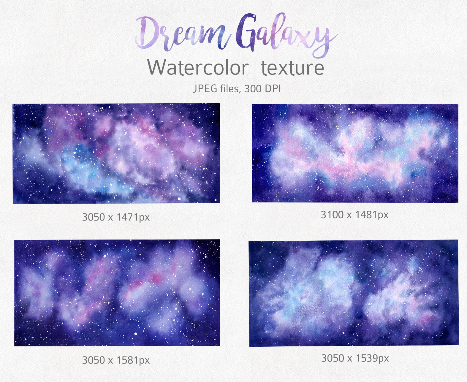 Galaxy Watercolor Collection example image 2
