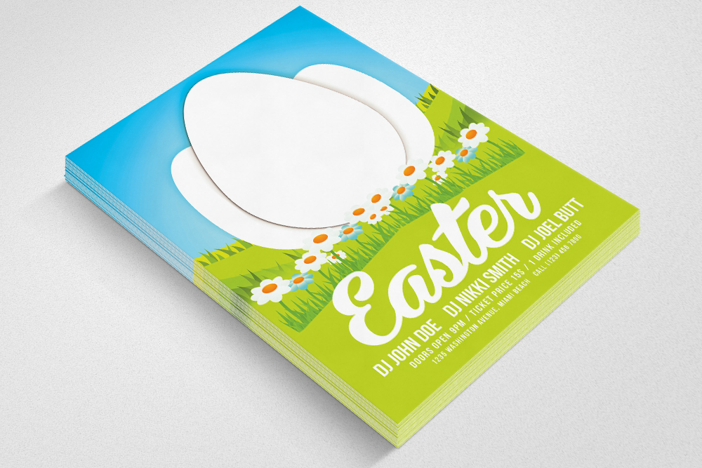 Easter Psd Flyer Template example image 3