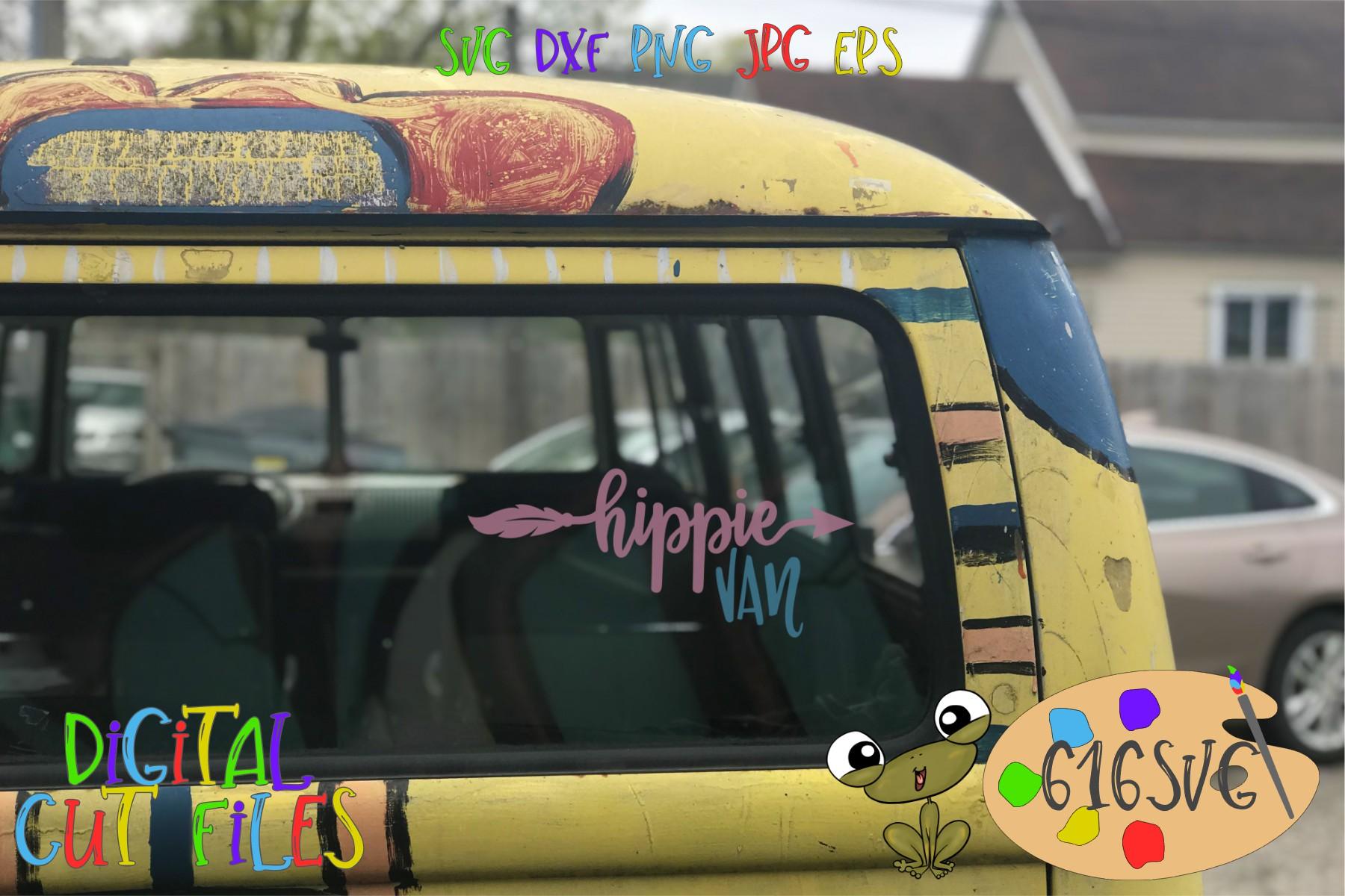 Hippie Car Hippie Van SVG example image 4