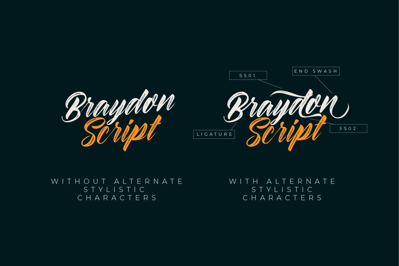 Braydon Script example image 10
