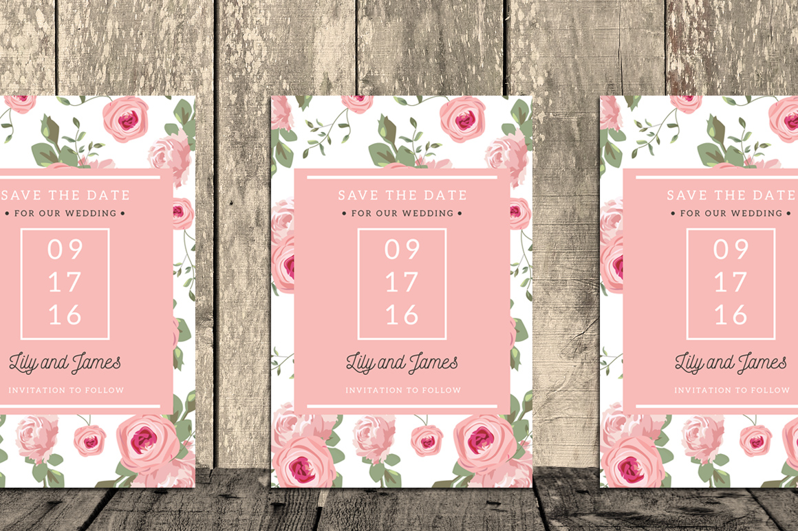 Floral Wedding Invitation Suite example image 5