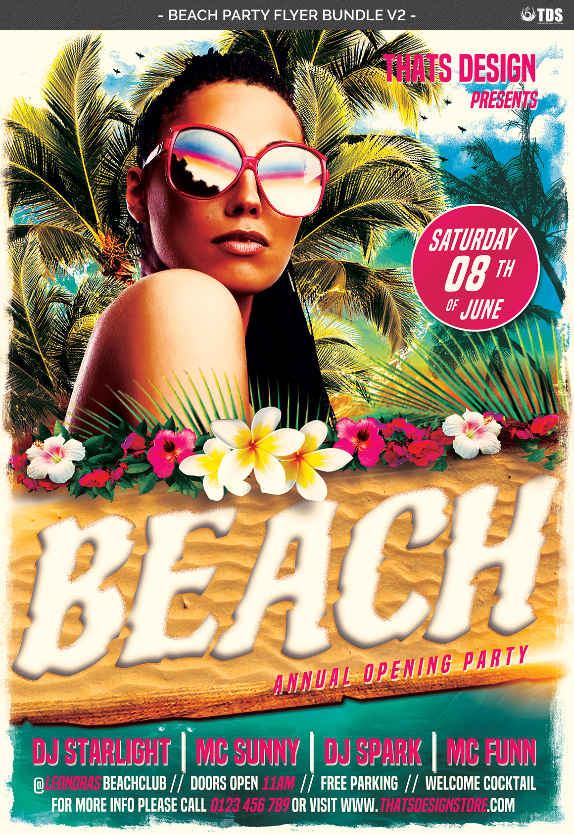 Beach Party Flyer Bundle V2 example image 7