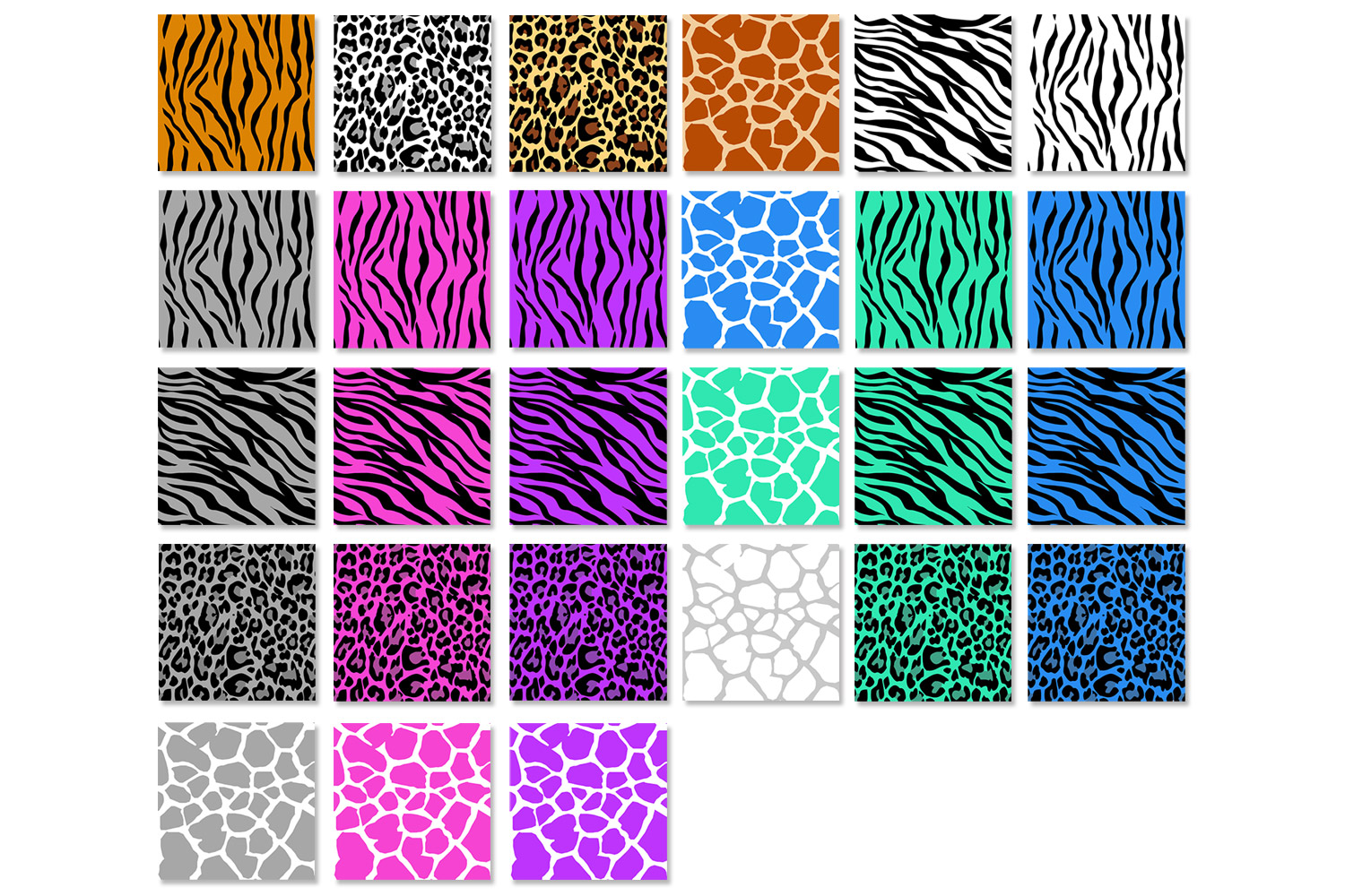 Animal Print Patterns - Zebra, Leopard, Tiger and Giraffe example image 2