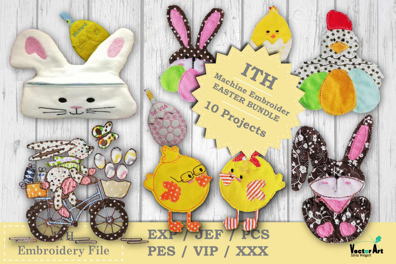 ITH Easter Bundle - Machine Embroidery Files - 10 Projects example image 1