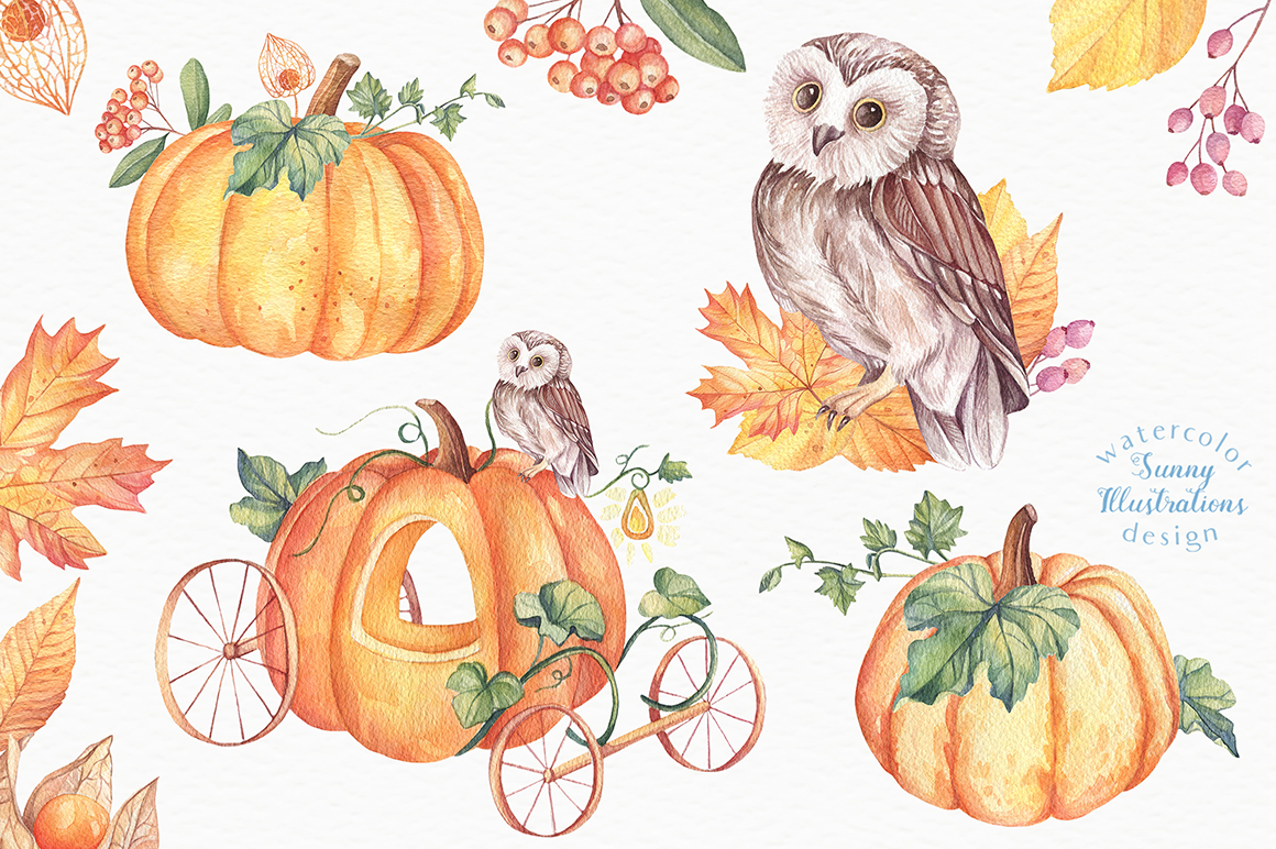Happy Halloween - Watercolor Set example image 7