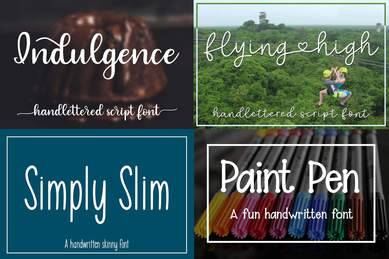 Big Font Bundle - 20 Handwritten Fonts example image 2
