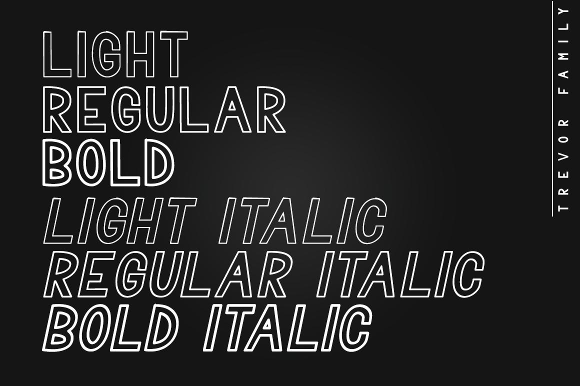 Trevor - Elegant Sans Serif Family Font example image 3