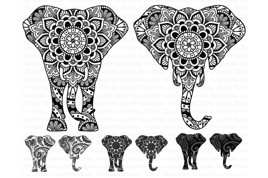 Download Elephant SVG, Elephant Head Mandala SVG files.