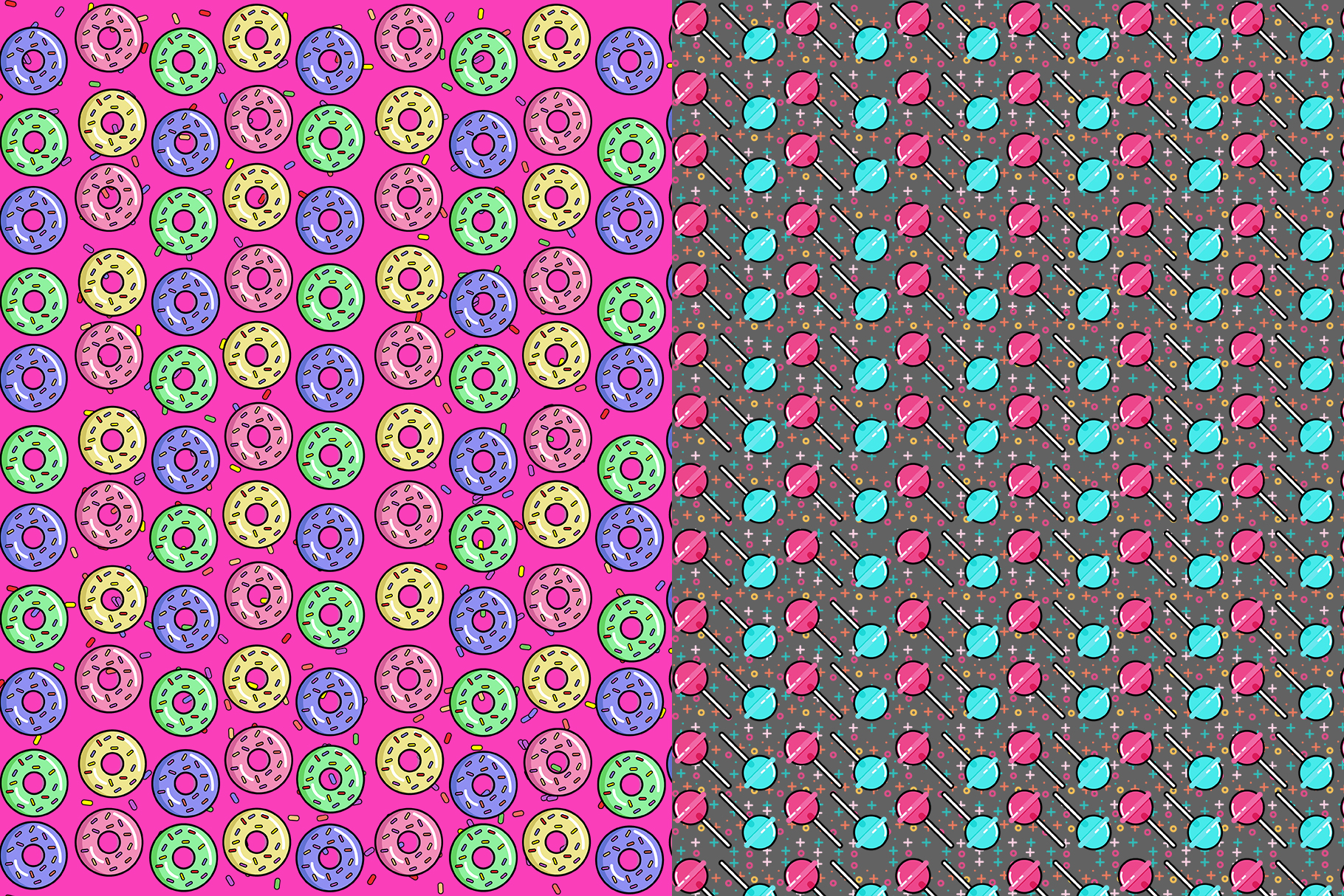 10 Sweets Seamless Patterns example image 5