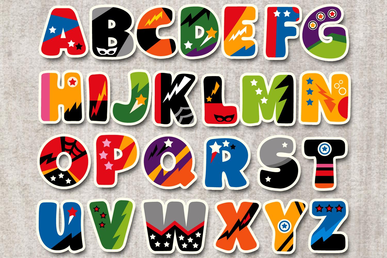 Superhero Alphabet Graphics Uppercase example image 2