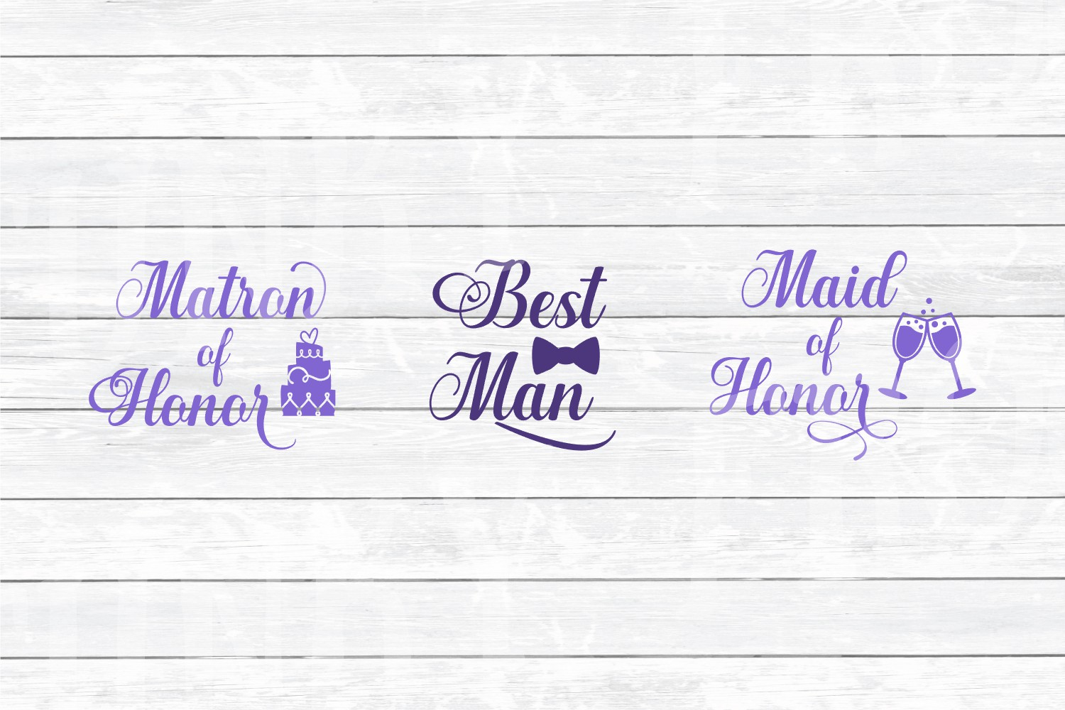 Wedding Party Design Bundle - SVG Cut Files for Crafters example image 4
