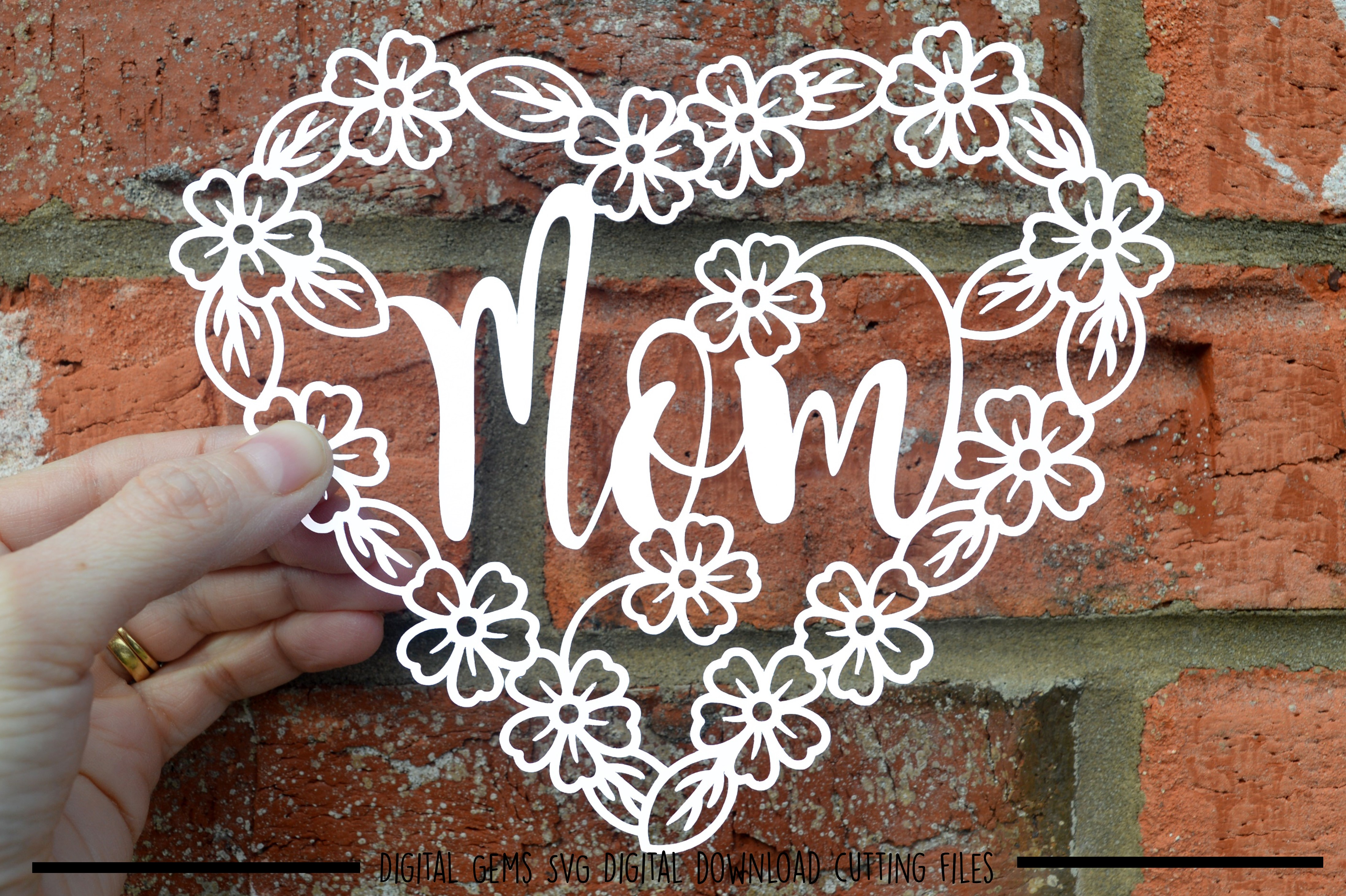 Mom paper cut SVG / DXF / EPS files example image 1