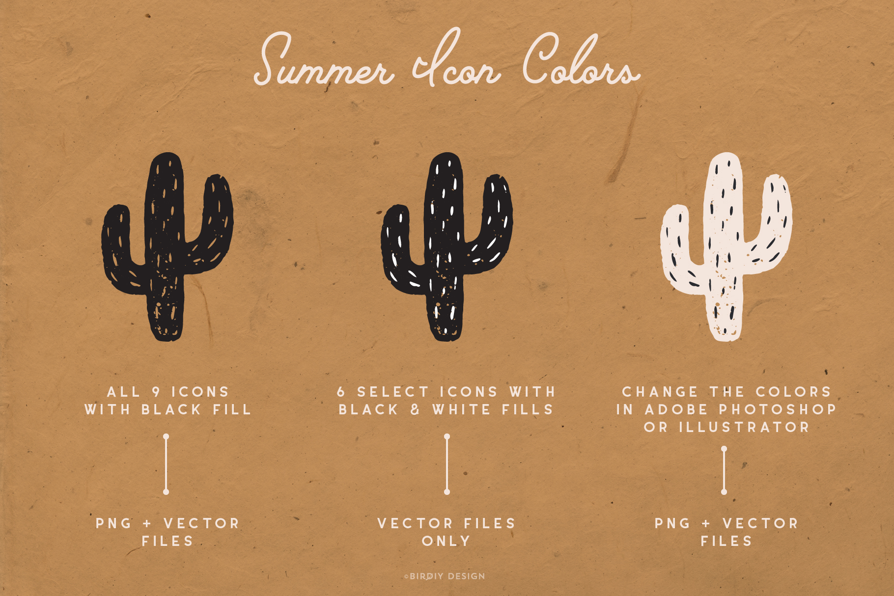 Summer Icons Hand Drawn Graphics Set example image 3