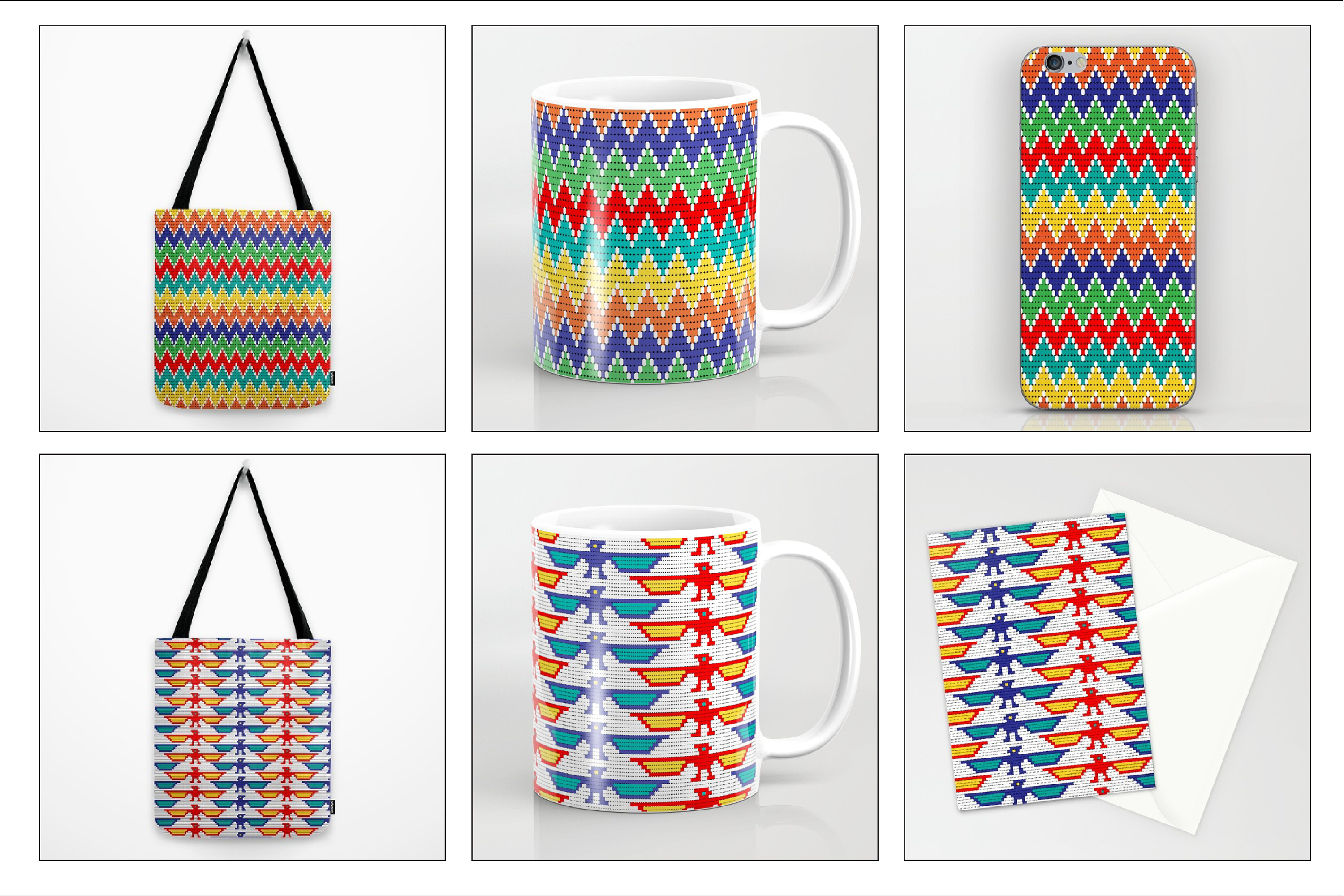 Seamless Tribal Bead Patterns example image 6