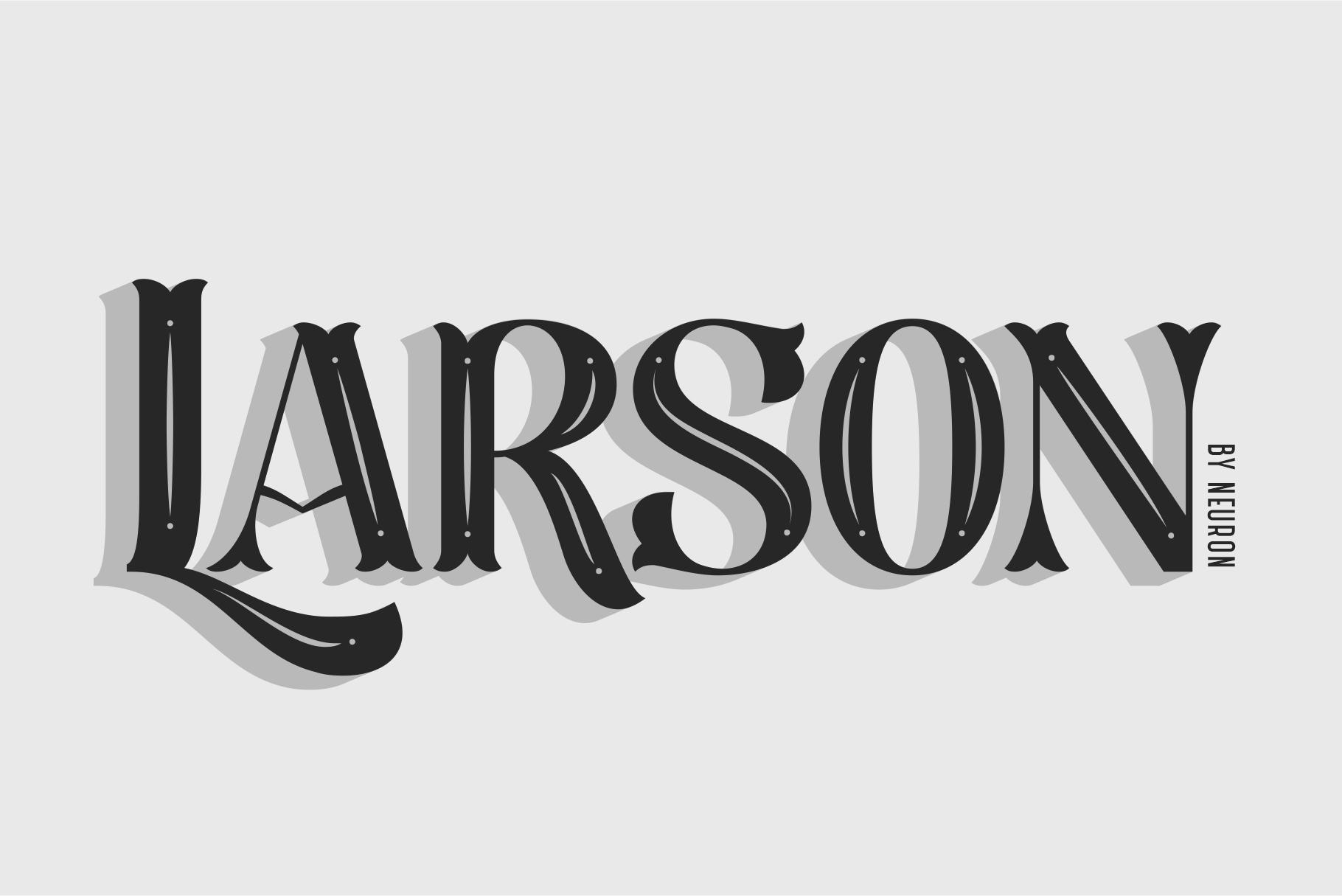 Larson Display Font example image 2