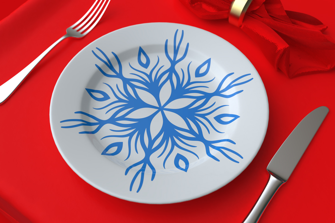 500 Snowflake Vector Ornaments example image 10