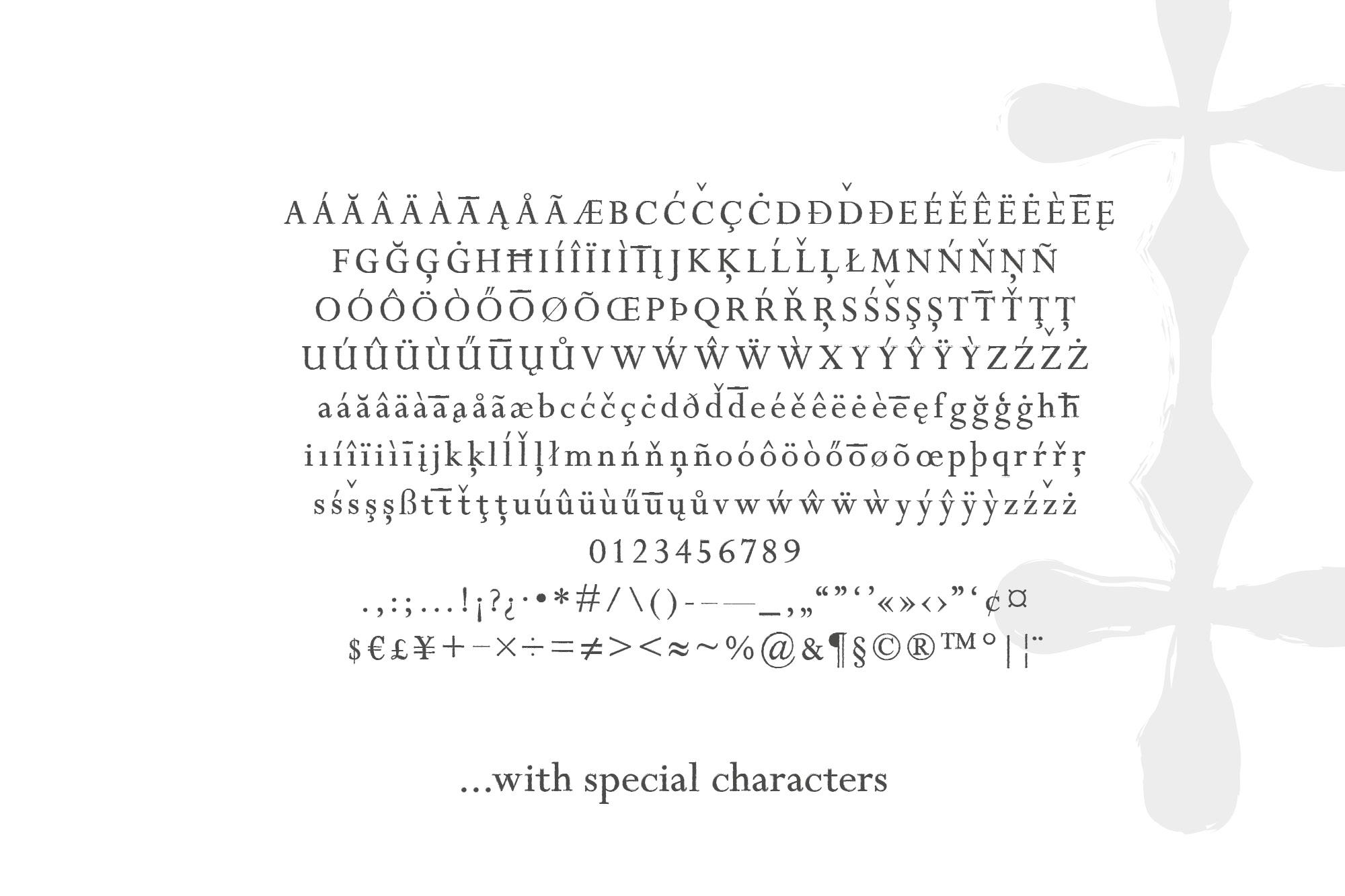 Wisper - a distressed serif font example image 3