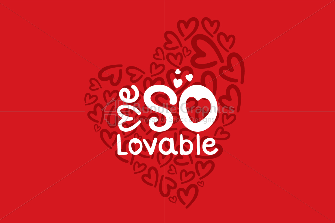 Me So Lovable - Vector Graphic Textual Element example image 1