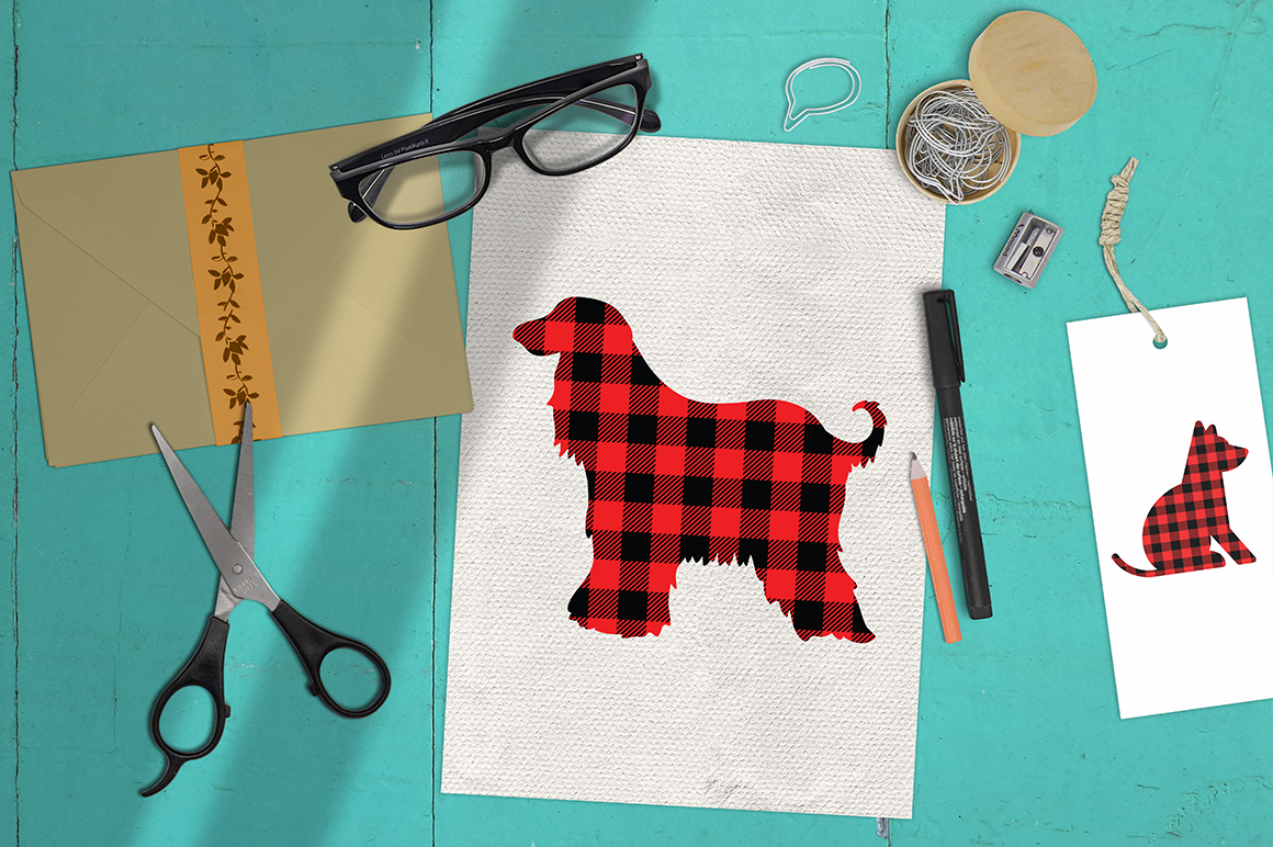 22 Dog Buffalo Plaid SVG Bundle example image 4