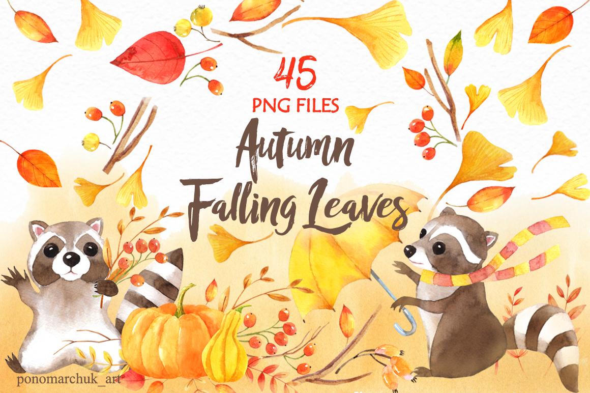 Autumn falling leaves example image 1
