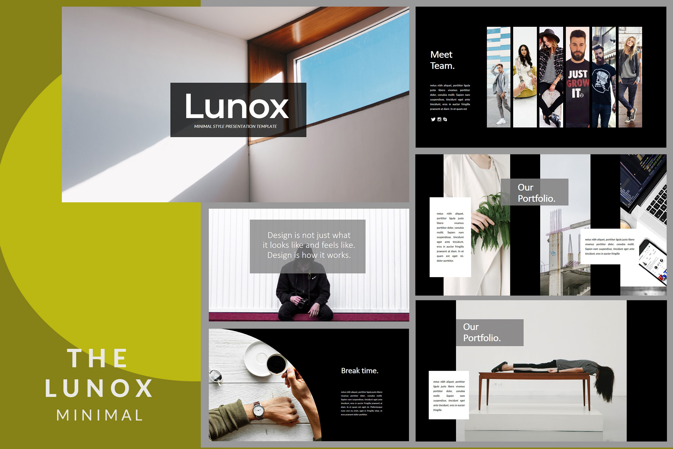 Lunox Dark - Google Slides Presentation example image 2