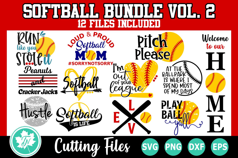 Softball SVG Bundle Volume 2 example image 1