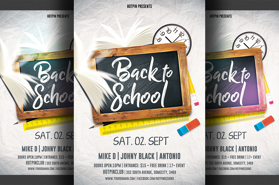 Back to School Party Flyer example image 1