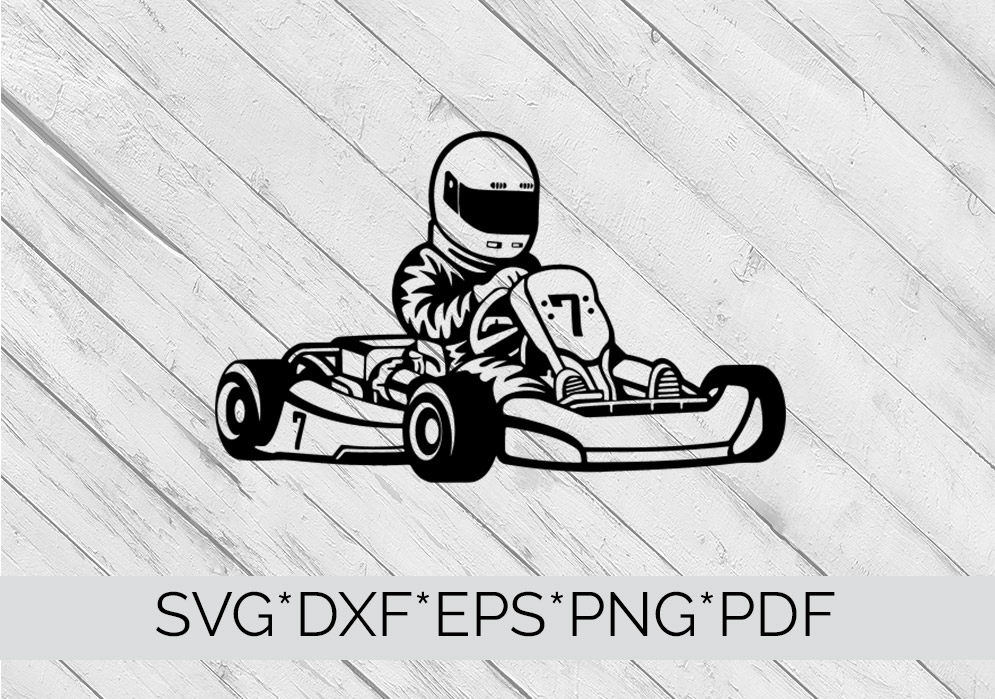 Go Karting SVG Cutting File  example image 3