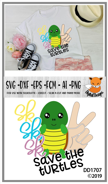 Save The Turtles Basic Girl SKSKSK And I Oop SVG example image 2