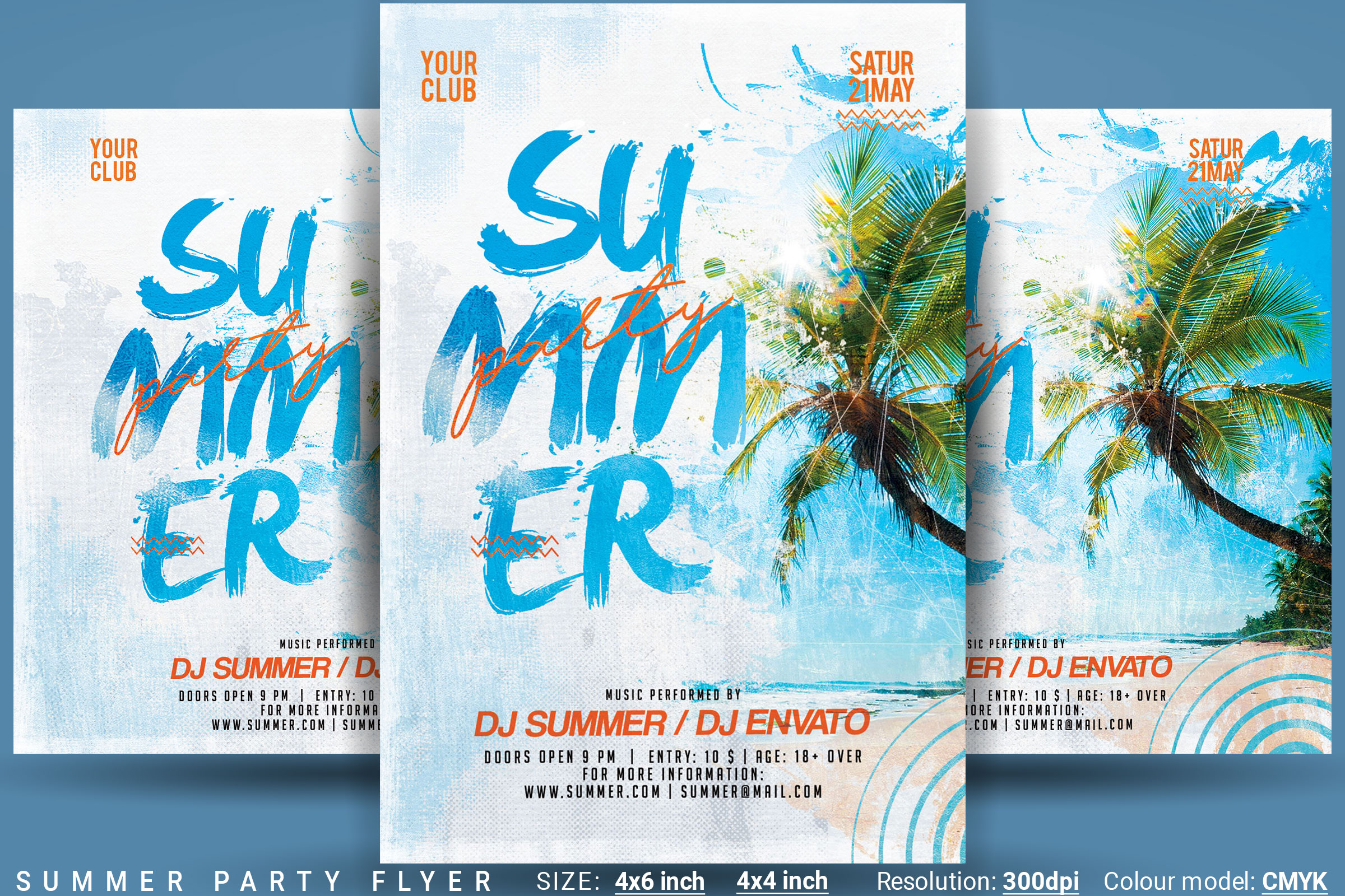 Summer Party Flyer example image 1