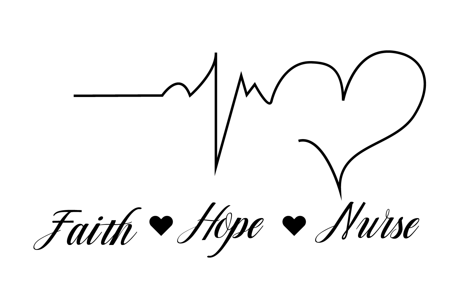 Faith Hope Nurse Svg,Dxf,Png,Jpg,Eps vector file example image 3