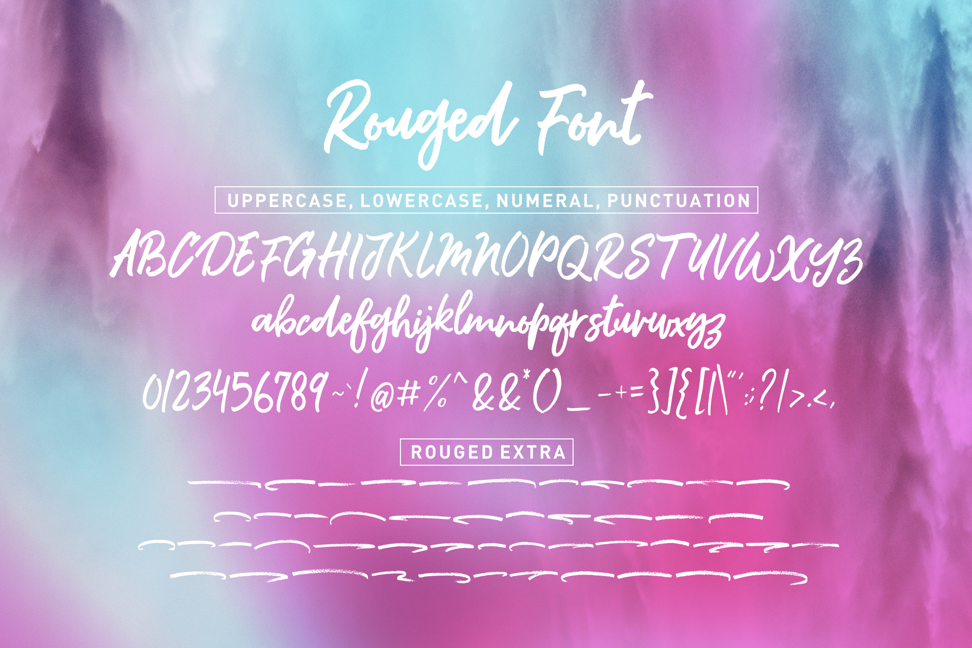 Rouged Font example image 7