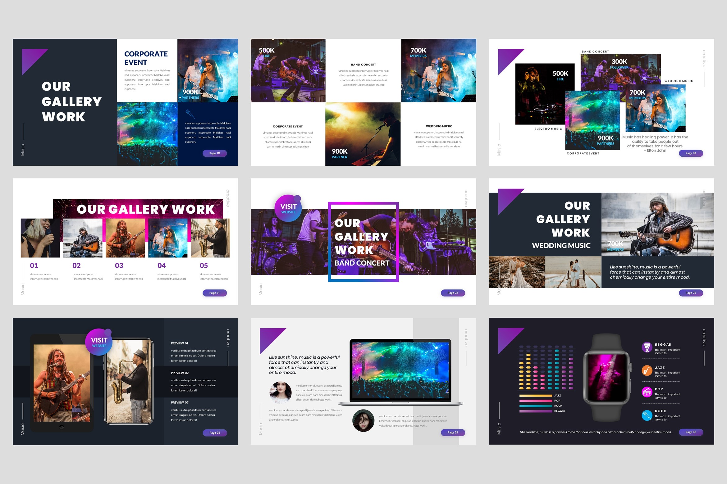 Music - Event Keynote Template example image 4