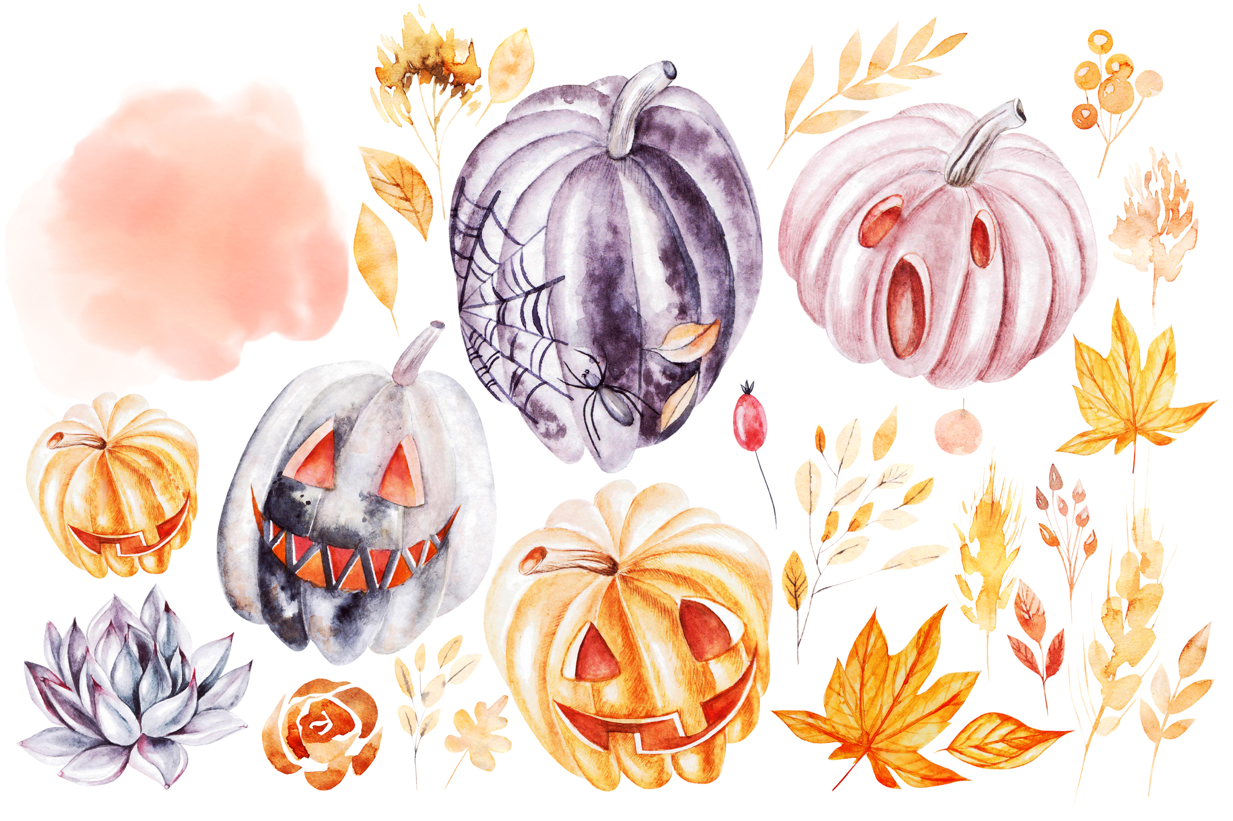 Watercolor Halloween collection example image 2