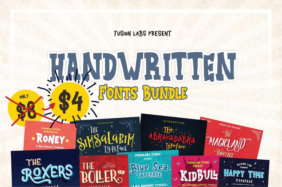 Handwritten Fonts Bundle example image 1