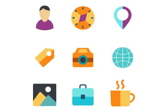 Set icons flat example image 2