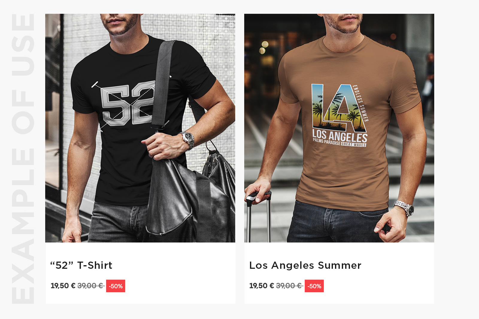 T-Shirt Mock-Up Casual Style example image 5