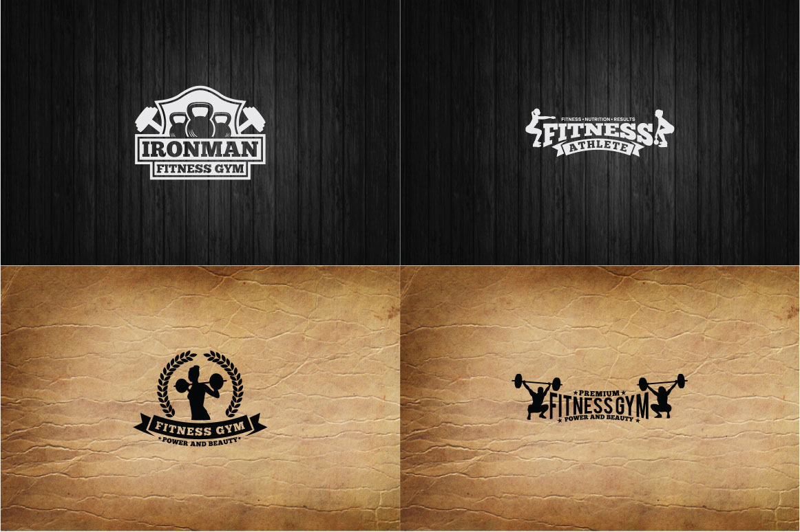 83 fitness gym bundle Logos Labels & Badges example image 15