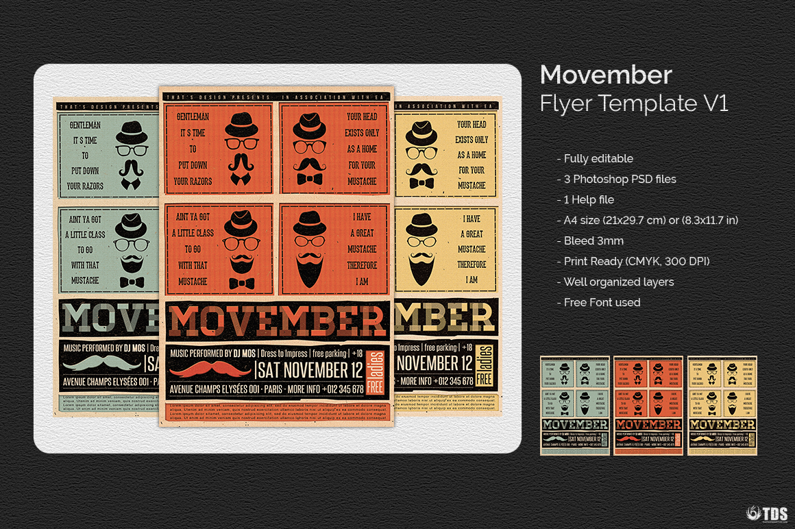 Movember Flyer Template V1 example image 8