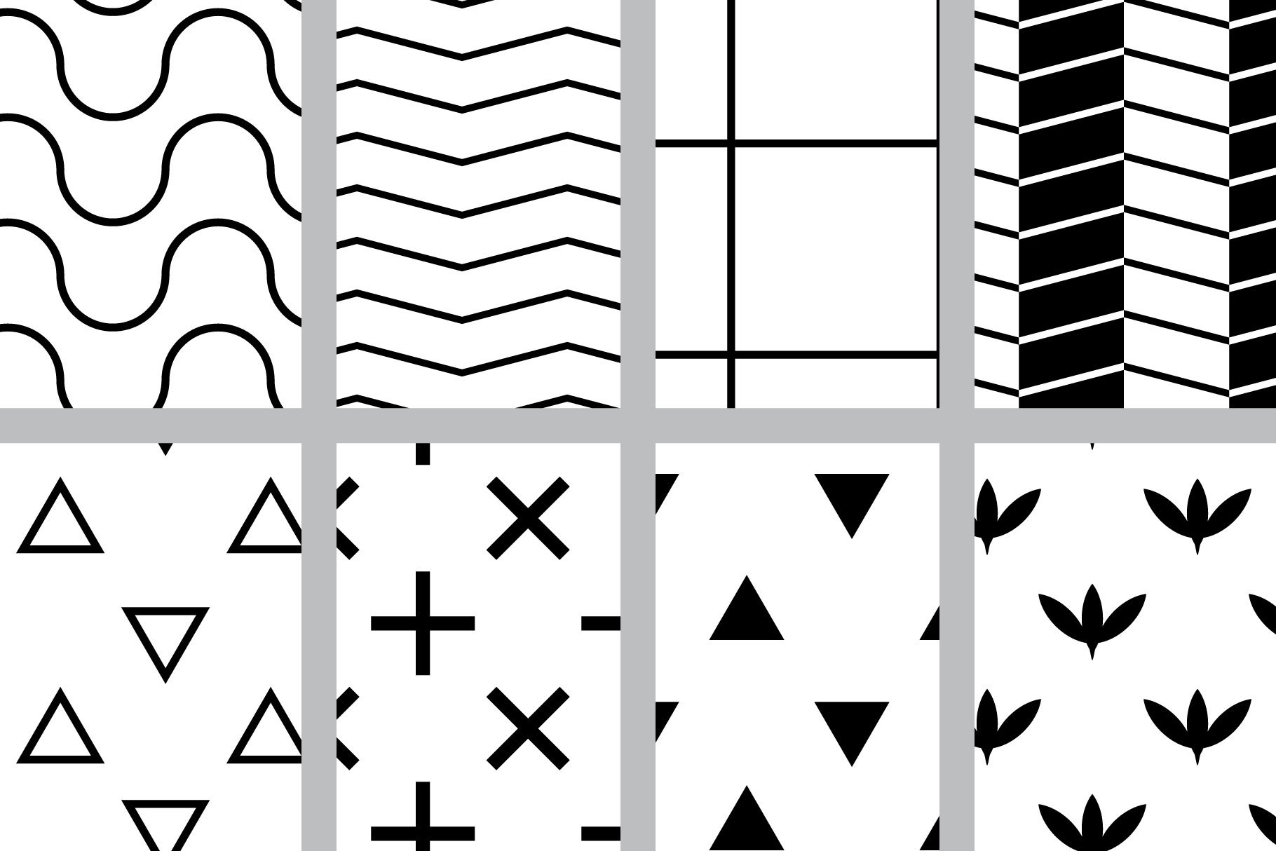 Black and White Seamless Patterns example image 2