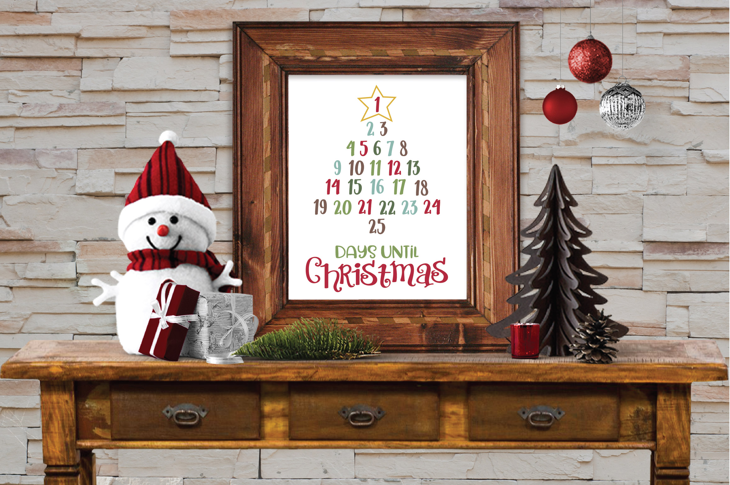 Christmas SVG Bundle with 10 Christmas Countdown Cut Files example image 6