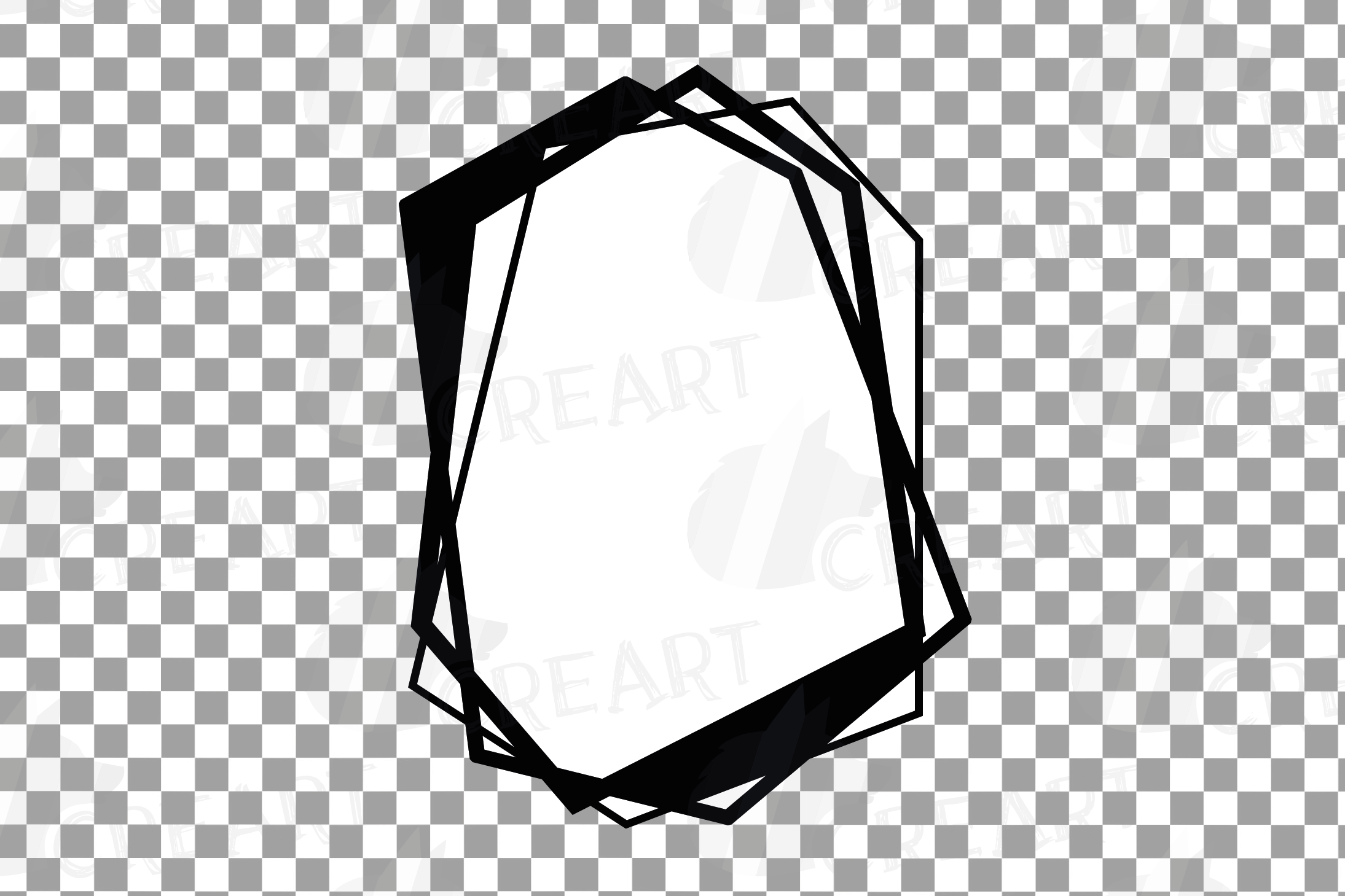 Chaotic geometric black frames, lineal frames clip art example image 13