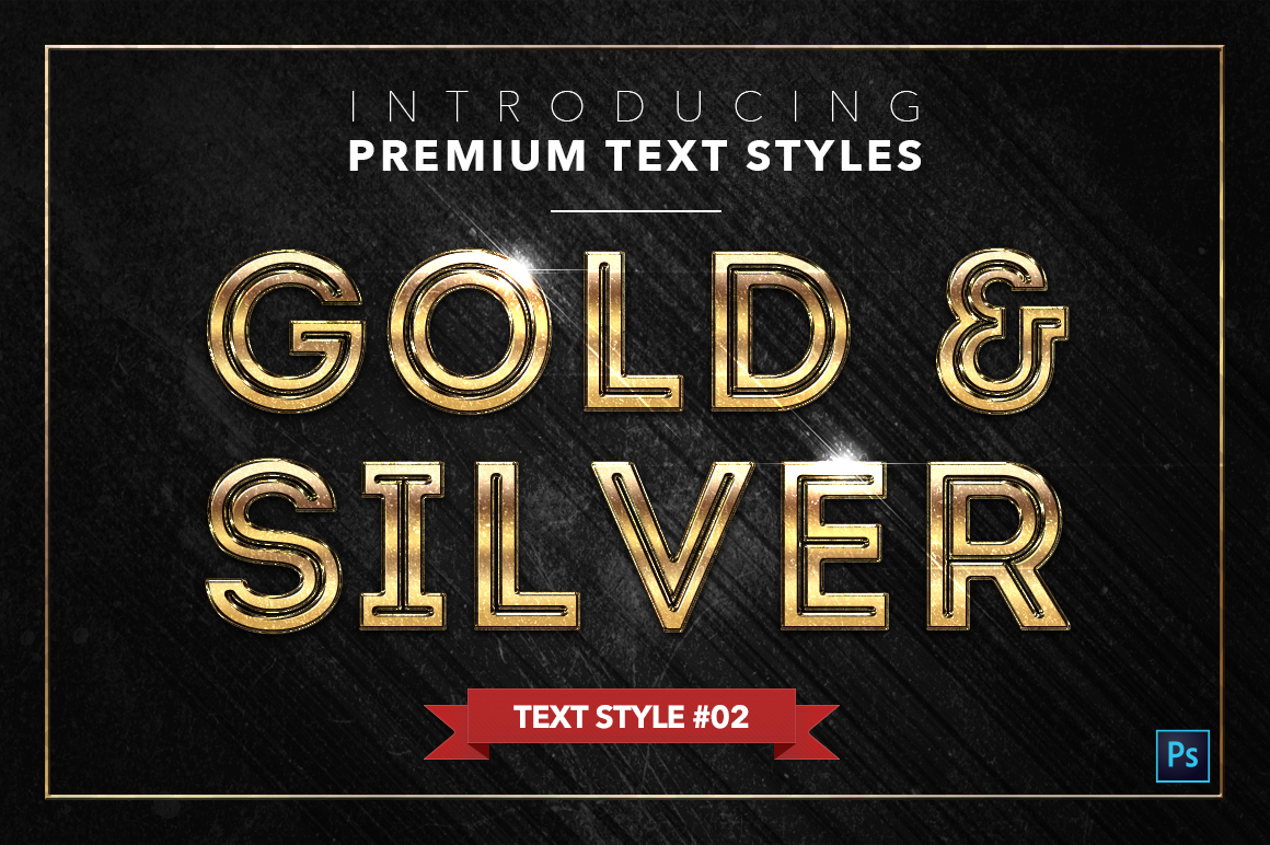 Gold & Silver #2 - 20 Text Styles example image 22